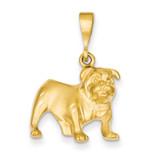 Bulldog Pendant 14k Gold C522