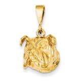 Bulldog Pendant 14k Gold C523