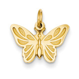 Butterfly Charm 14k Gold C537