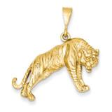 Tiger Charm 14k Gold C550