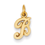 Casted Initial B Charm 14k Gold C564B