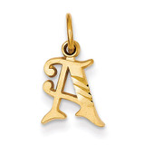 Initial A Charm 14k Gold C565A