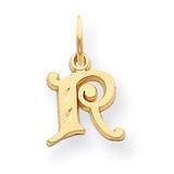Initial R Charm 14k Gold C565R