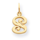 Initial S Charm 14k Gold C565S