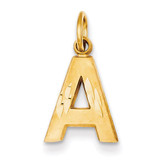 Initial A Charm 14k Gold C566A