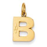 Initial B Charm 14k Gold C566B