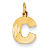 Initial C Charm 14k Gold C566C