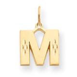 Initial M Charm 14k Gold C566M