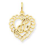 Initial A Charm 14k Gold C568A
