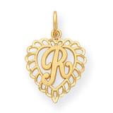 Initial R Charm 14k Gold C568R