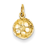 Soccer Ball Charm 14k Gold C587