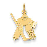 Hockey Goalie Charm 14k Gold C712
