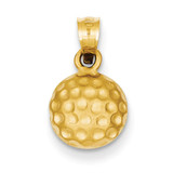 Golf Ball Charm 14k Gold C715