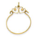 Heart Charm Holder 14k Gold C734