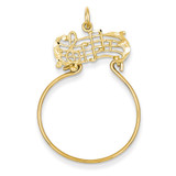 Musical Charm Holder 14k Gold C735
