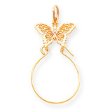 Butterfly Holder Charm 14k Gold C740