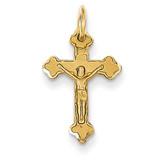 INRI Diamond-cut Crucifix Charm 14k Gold C794