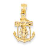 Mariners Cross Pendant 14k Gold C809