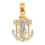 Mariners Cross Pendant 14k Two-Tone Gold C810