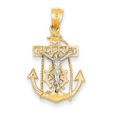 Mariners Cross Pendant 14k Two-Tone Gold C811