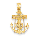 Mariners Cross Pendant 14k Gold C812