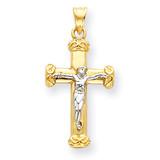Crucifix Pendant 14k Two-Tone Gold C960