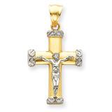 Crucifix Pendant 14k Two-Tone Gold C961