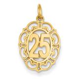 # 25 in Oval Pendant 14k Gold C983