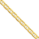 4.5mm Concave Anchor Chain 7 Inch 14k Gold CCA120-7