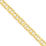 7mm Concave Anchor Chain 7 Inch 14k Gold CCA180-7