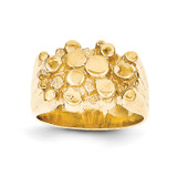 Men's Nugget Ring 14k Gold CH159