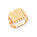Men's Signet Ring 14k Gold CH164