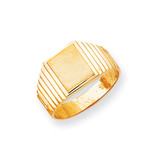 Men's Signet Ring 14k Gold CH166
