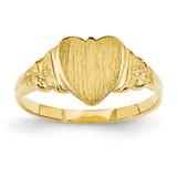 Heart Signet Ring 14k Gold CH199