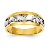 Rhodium Dolphin Ring 14k Gold CH217