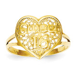 Sweet 16 Heart Ring 14k Gold CH263