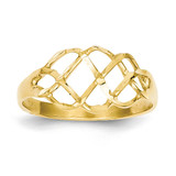 Diamond-Cut Fancy Ring 14k Gold Polished CH270