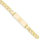Curb ID Bracelet 8 Inch 14k Gold CUR200ID-8