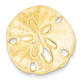 Fits up to 8mm on Both Small Sand dollar Slide 14k Gold Polished D1003
