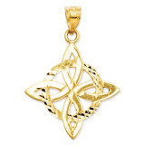 Diamond-cut Trinity Pendant 14k Gold Polished D1101