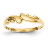 Swirl Dome Ring 14k Gold Polished D111