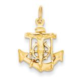 Mariners Cross Pendant 14k Gold D12