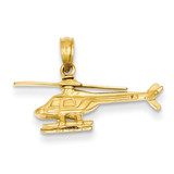 3-D Helicopter Pendant 14k Gold D1221