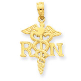R.N. Pendant 14k Gold Polished D1235