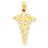 Caduceus Pendant 14k Gold D1236