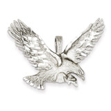 Polished Diamond-cut Eagle Pendant 14k White Gold D1337