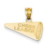 Cheerleader Megaphone Pendant 14k Gold Solid Polished D1444