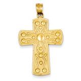Cross with Serenity Prayer Pendant 14k Gold D1633