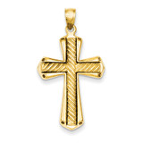 Twisted Cross Pendant 14k Gold D1636
