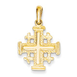 Jerusalem Cross Pendant 14k Gold D1656